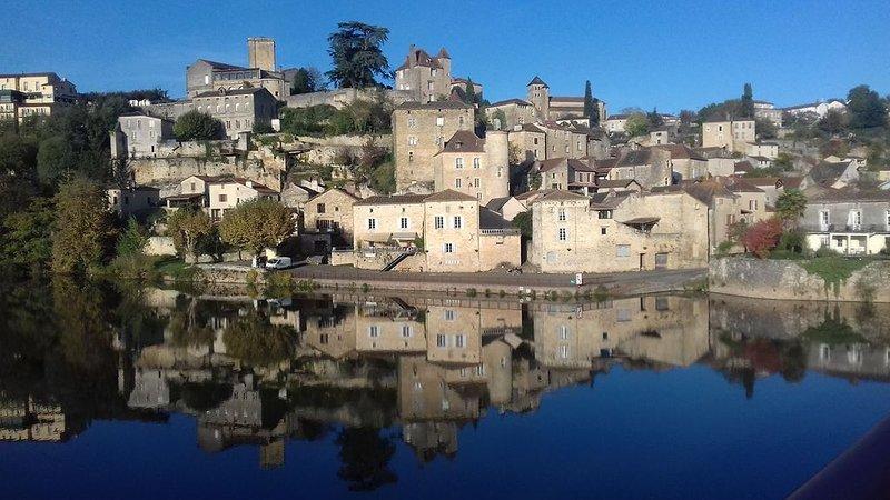 Maison  entière avec Jardin au cœur d'un magnifique village au bord du Lot, holiday rental in Puy-l'Eveque