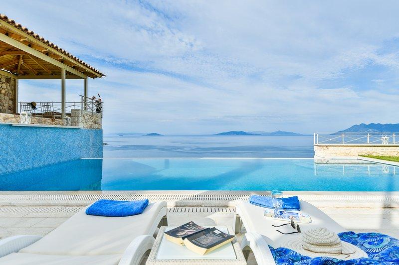 Villa with Striking views over the infinity Pool, Ferienwohnung in Ligourio