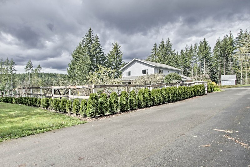 This fruit farm home promises a memorable stay.