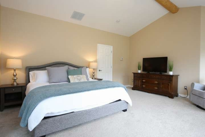 The master suite features a king size bed, enormous bath and incredible views. You might want to stay here forever!