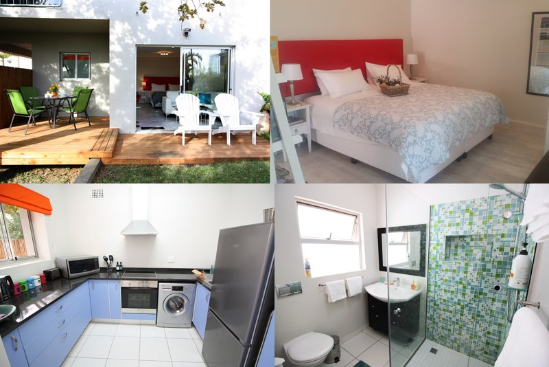 Fast,free fiber wifi, quiet garden for zoom calls, fully equipped kitchen, pool,, holiday rental in Cape Town