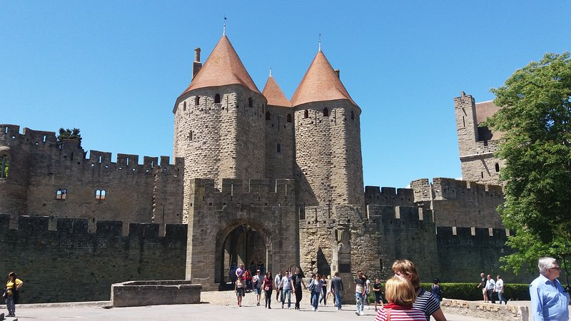Medieval city at Carcassonne