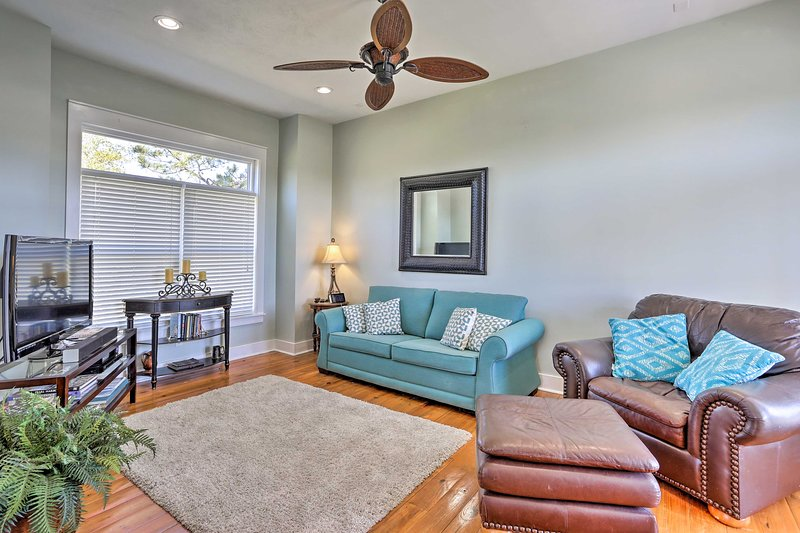 Enjoy the quiet beach life at this lovely, 3-bedroom, 3.5-bath vacation rental!