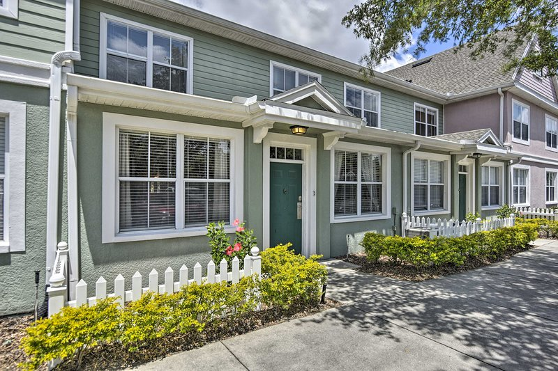 Book your Disney family trip to this 3-bed, 2-bath vacation rental townhome.