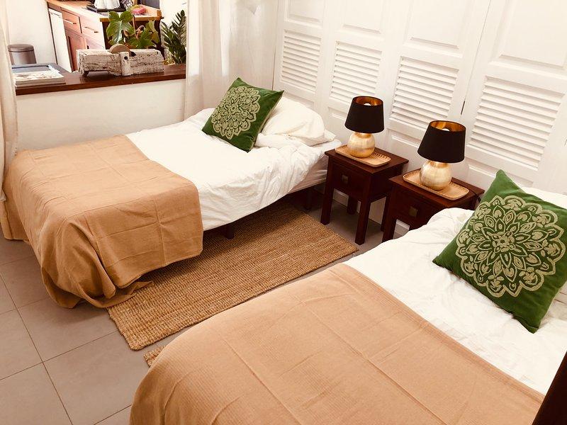 Dos camas individuales están disponibles si no quieres compartir