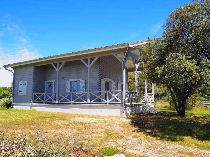 Grand chalet en bois avec jardin et terrasse au pied de la Montagne Noire, holiday rental in Lacombe