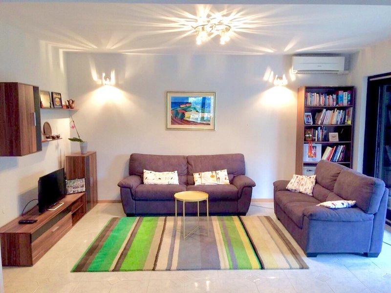 Sala de estar, ar condicionado, Wi-Fi, TV com mais de 500 canais