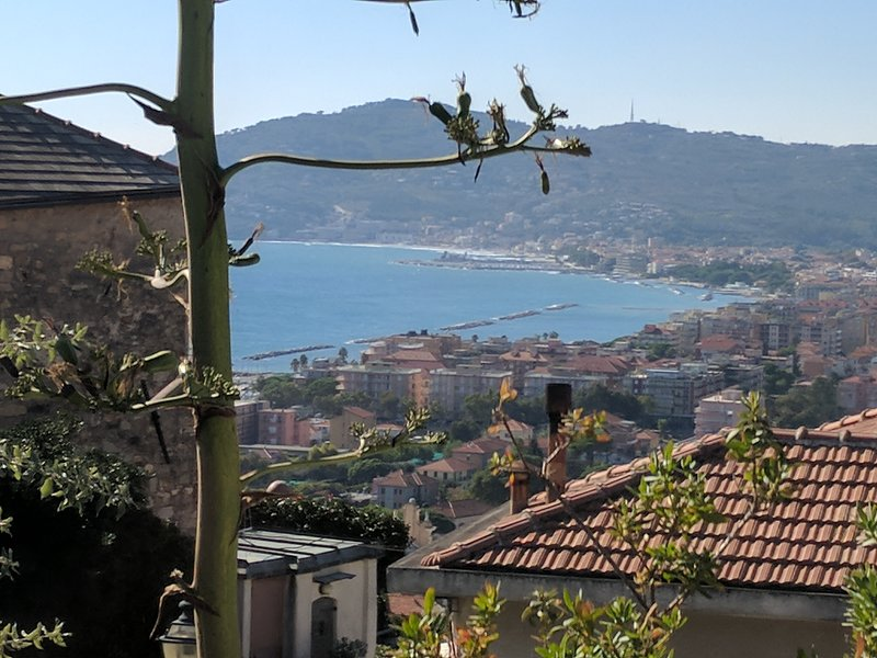 View of San Bartolomeo al Mare, five minutes from the mills.