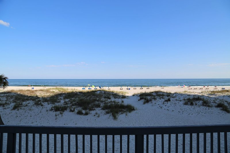 Direct beach front views from the convenience of the spacious deck.