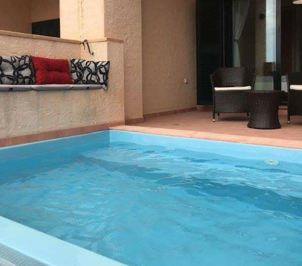 Private Plunge Pool 2 Bed, 2 Bath GF Apt on Prestigious Hacienda Del Alamo, holiday rental in Fuente Alamo