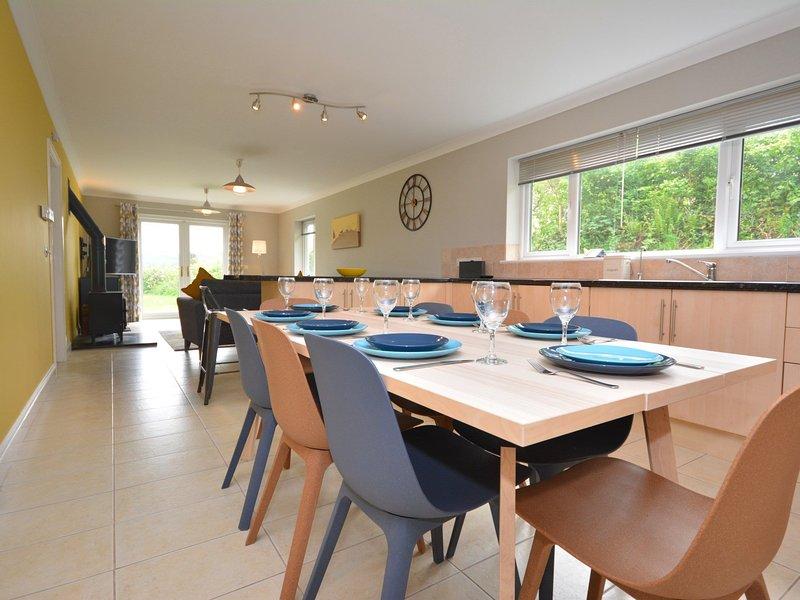 Splendida cucina / sala da pranzo che conduce alla lounge