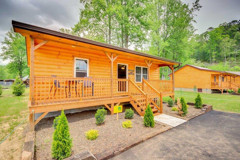 Cette cabine de charme est situé dans un quartier nouvellement construit.
