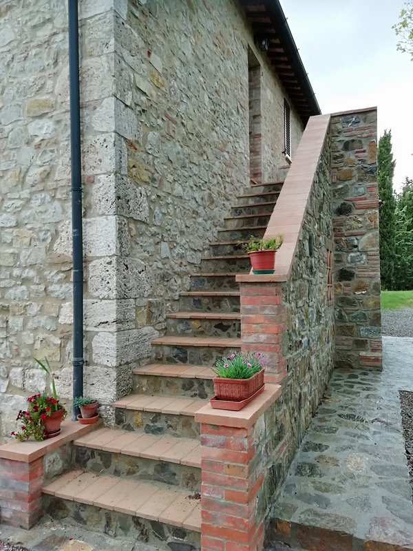 The new external staircase