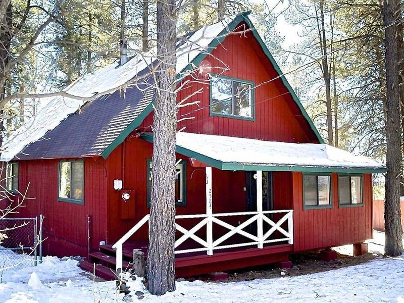 The fully furnished Flagstaff Rental Cabin with a Full Indoor Remodel is the perfect place to relax and enjoy your time away in a place that has everything you need - think of it as your own second home.  Now with **Central AIR CONDITIONING** Just in...