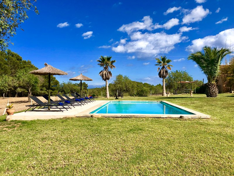 PANORAMIC VILLA ON 40.000sqm,POOL,CLIMATE,FREE NETFLIX ACCESS, vacation rental in Portocolom