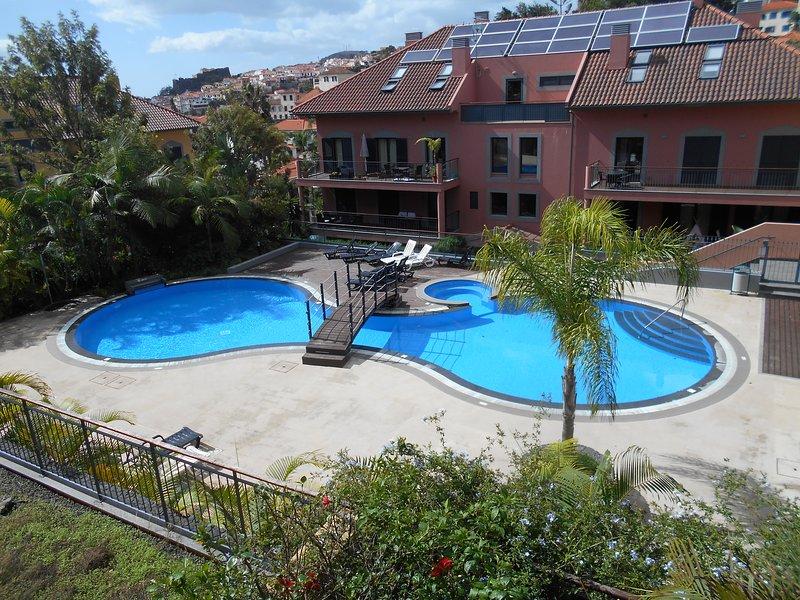 Vista da piscina a partir da varanda