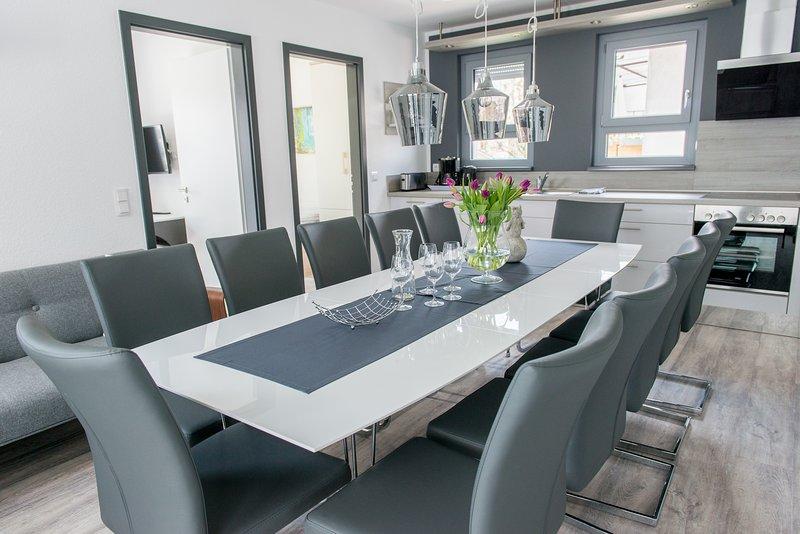 Gruppenurlaub für 10 Personen mit eigenen Schlafzimmern/Bädern - in Bensheim, vacation rental in Gernsheim