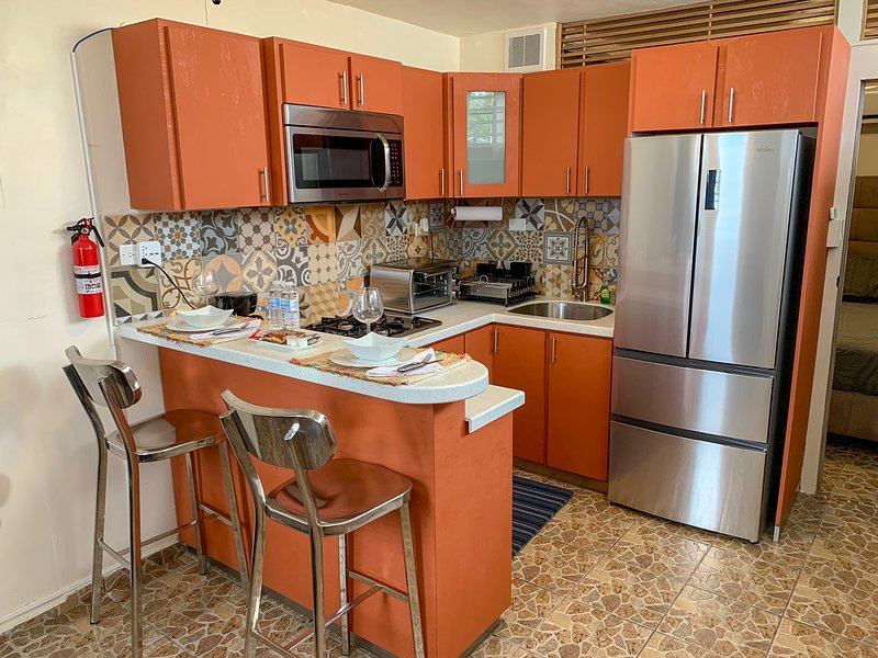 Cozy apartment with parking and laundry. Pet friendly, holiday rental in Playa de Guanica