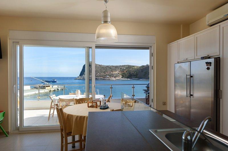 Beach front modern condo south Crete, vacation rental in Lentas