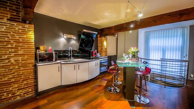 ❤️Loft hyper centre Carmes 93m2 calme❄️Climatisation Wifi, holiday rental in Toulouse
