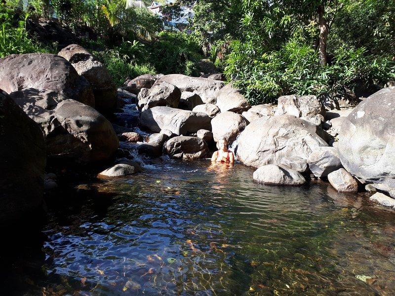 O rio e sua água cristalina