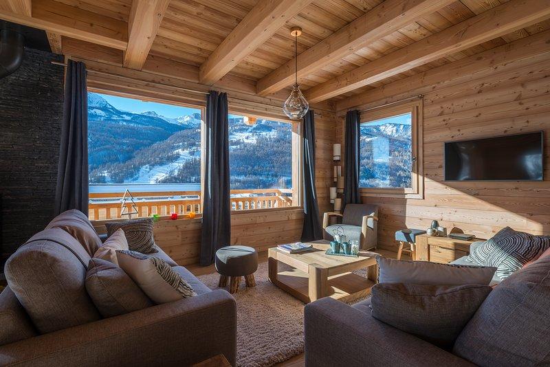 Loungen erbjuder fantastisk utsikt över olympiska härkomst Luc Alphand
