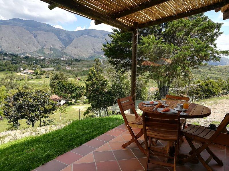 Casa del Sol. Hermoso apartamento campestre, independiente  en Villa de Leyva, holiday rental in Villa de Leyva