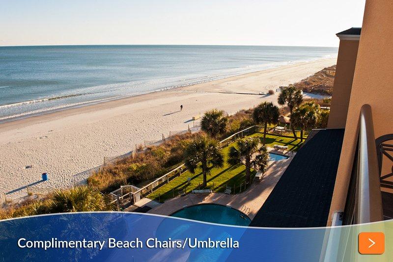 Oceanfront Balcony Overlooking Resort Pools
