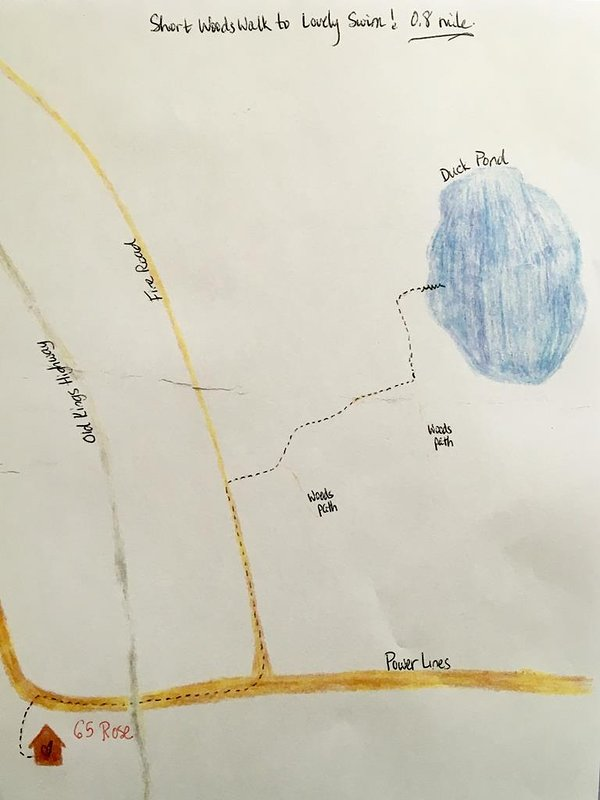 map to Duck Pond