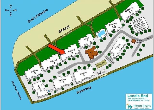 Site plan Lands End