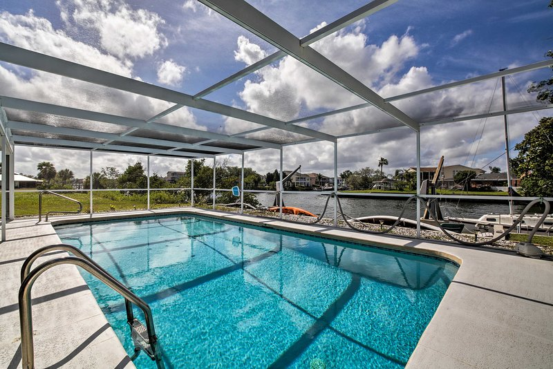 Dip into the private pool of this 3-bed, 2-bath Hernando Beach vacation rental!
