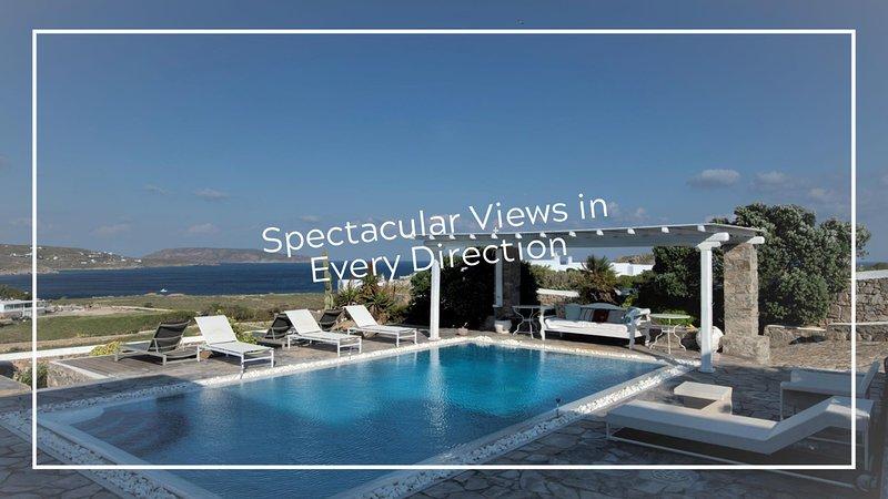 Sea and Sun Villa Sea View Luxury, holiday rental in Kalafatis