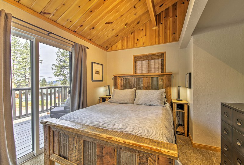 Couples will love sharing this queen bedroom.