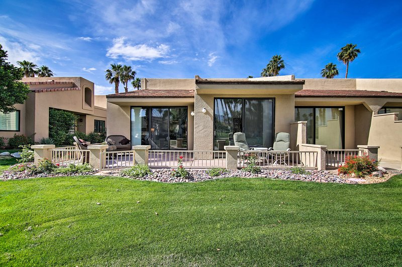 You'll never want to leave this stunning Palm Desert rental condo!