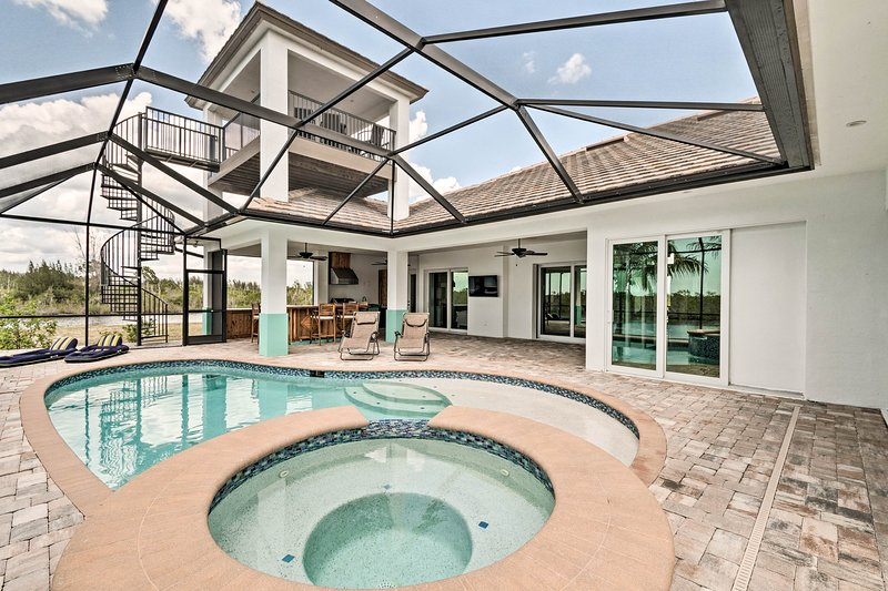 Prepare for fun in the sun at this luxury Cape Coral vacation rental home.