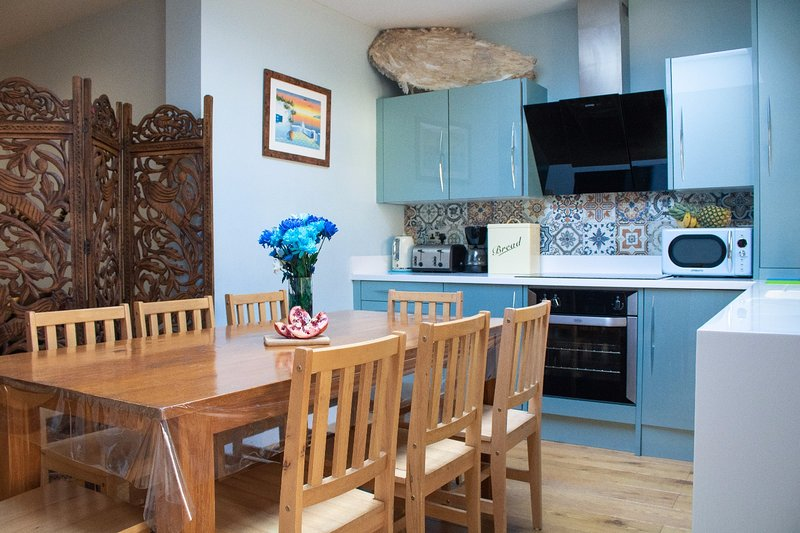 the open space kitchen
