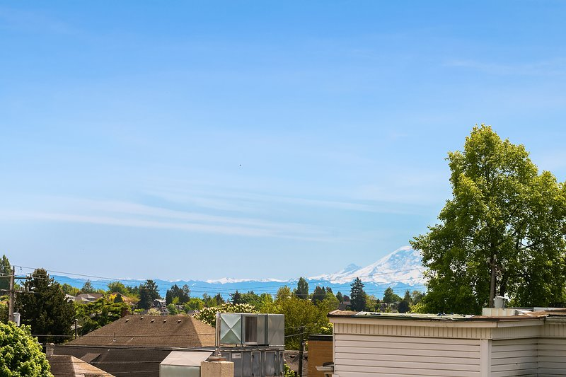 The views are great and include a glimpse of Mount Rainier on a clear day