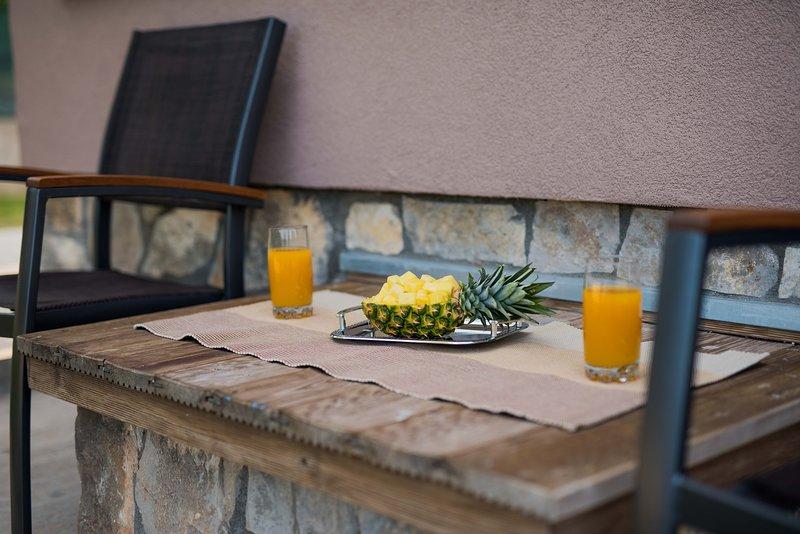 Terrace, outdoor furniture