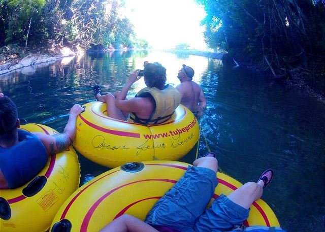 Cave tubing on the mainland, Don or Nazle can set these trips up