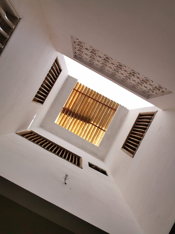 Patio roof from the bottom