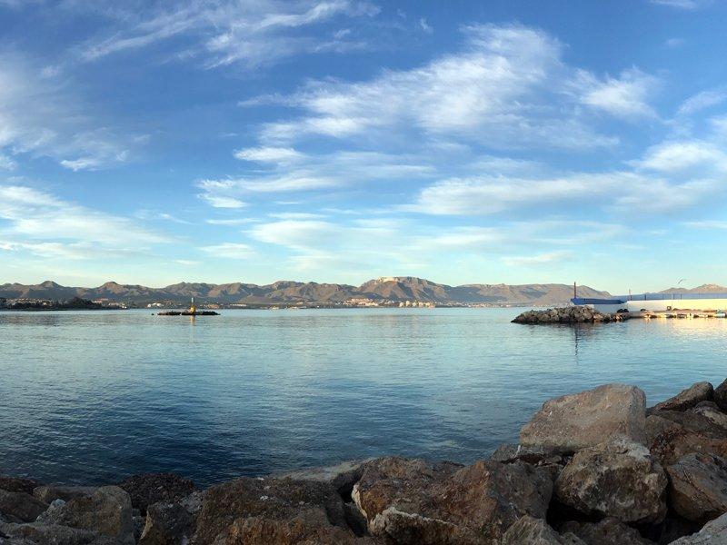 Isla Plana across the bay