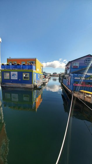 Fishermans Wharf B&B in Victoria . Floating in the sea . REALLY!