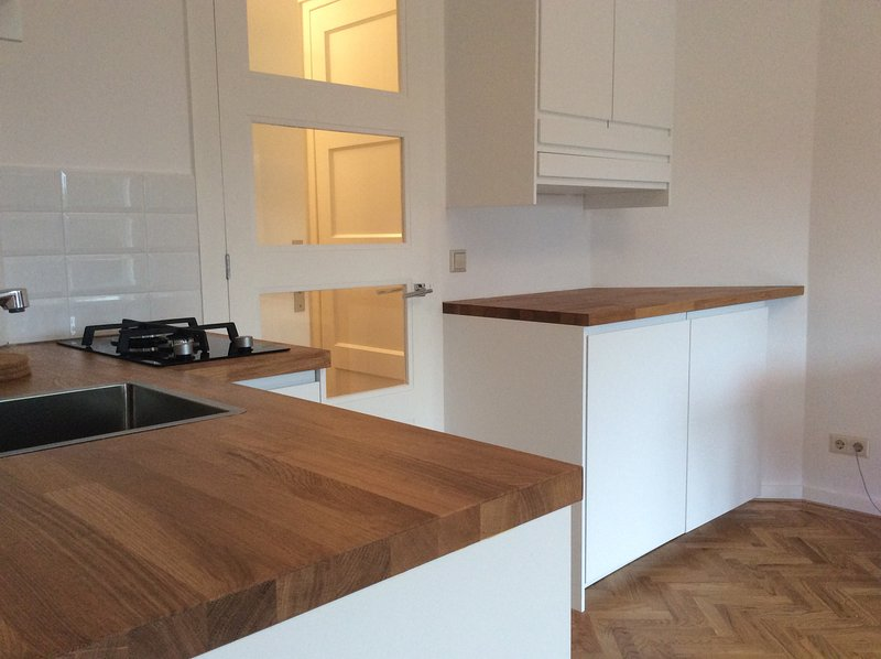 Open kitchen with cooker, microwave, dishwasher and other equipement. Coffee and tea provided.