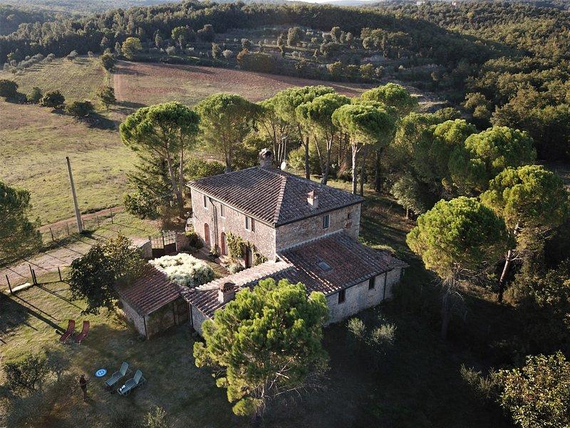 Villa con panorama da sogno, Ferienwohnung in Sovicille