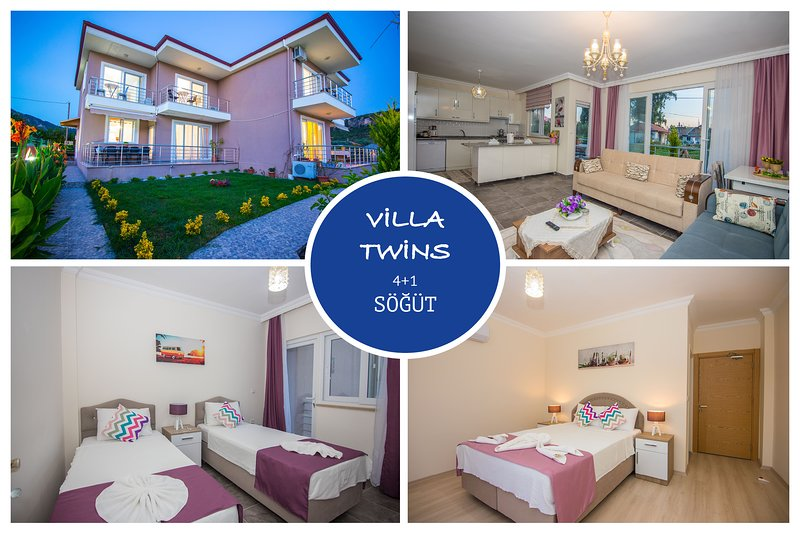 Twins Villa Sogut Village Daily Weekly Rentals, holiday rental in Sogut