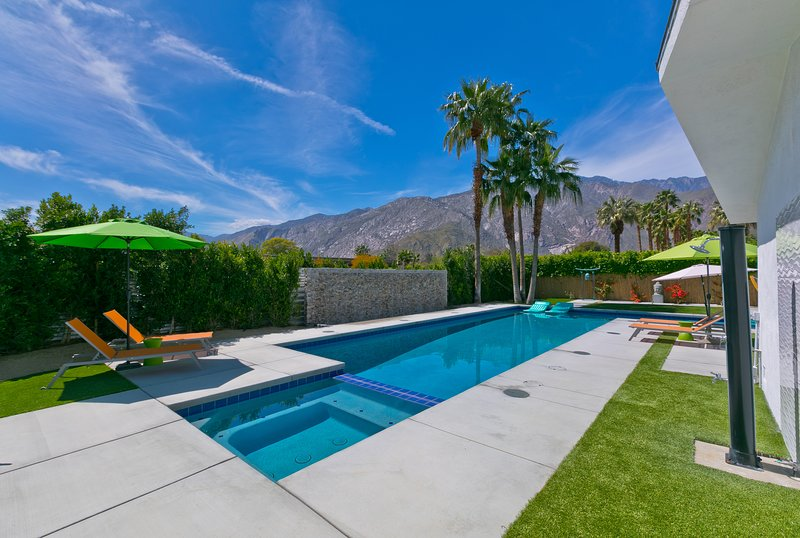 View of San Jacinto Mountain from the Pool