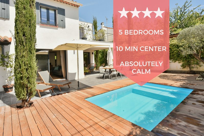 ❤️ UNIQUE ❤️ House with swimming pool only 10 min from the center of Cannes, vacation rental in Cannes