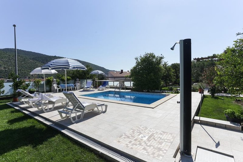 Terrace, pool, outdoor furniture
