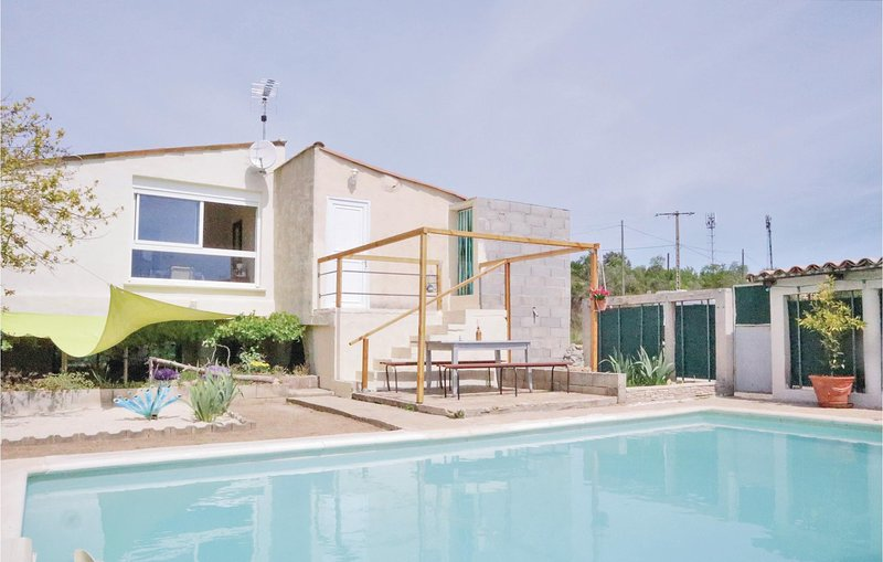 Awesome apartment in St. Ambroix with Outdoor swimming pool, Outdoor swimming po, vacation rental in Saint-Victor-de-Malcap