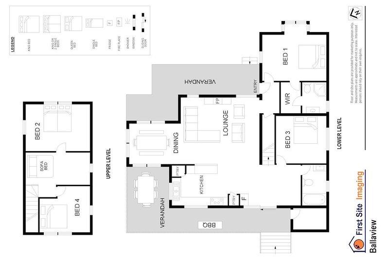 Alojamiento en Hunter Valley - Ballaview - Lovedale - Plano de planta